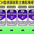 台中監視器材批發-四路監視錄影主機硬碟級數表-4路硬碟錄像機.jpg