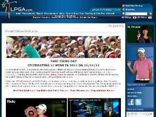 世界第1、單季至今11座冠軍,美國時間11月11日這天,LPGA官網上全都是台灣的曾雅妮,用實際行動告訴世界各地球迷:「這一天屬於曾雅妮。」(圖取自LPGA官網www.lpga.com)