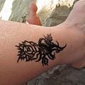 在島上 畫在腳上的taotoo.JPG