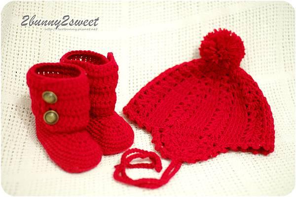 花漾飛行帽&雪靴組合-亮眼紅-01.jpg