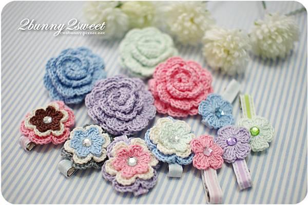 鉤織花朵髮夾-01