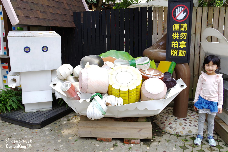 台中大坑紙箱王創意園區巨大的紙造火鍋