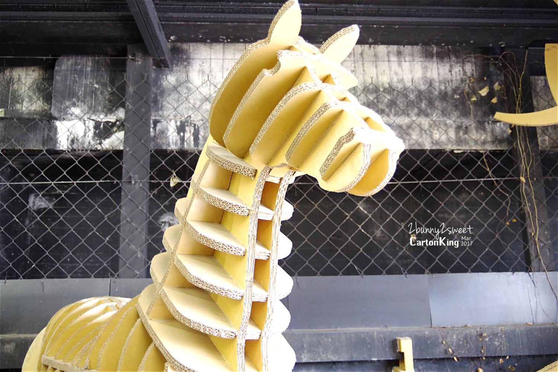 台中大坑紙箱王創意園區紙箱動物園馬