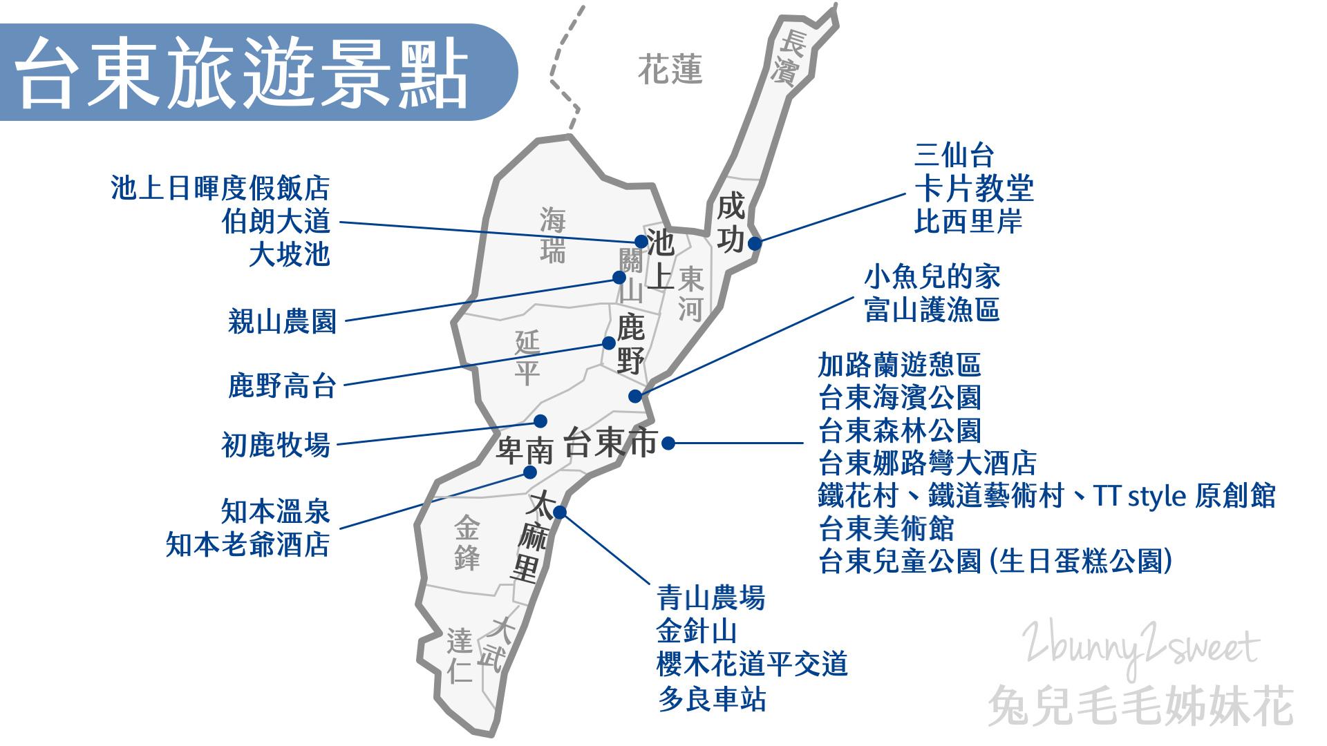 台東旅遊地圖