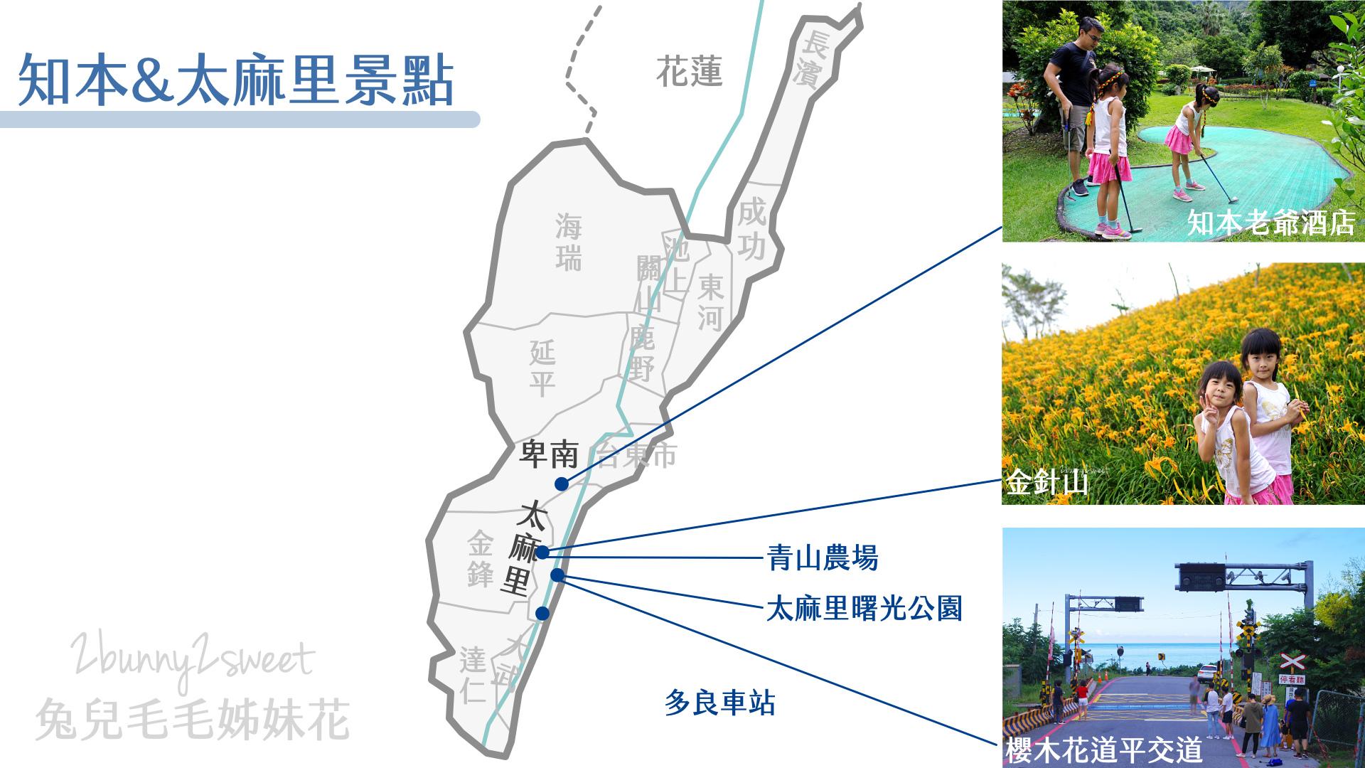 台東旅遊地圖-知本&太麻里