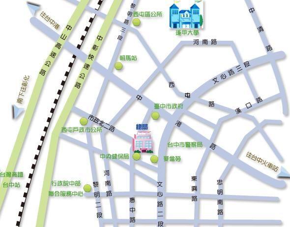 台中市政府及地方稅務局相對位置.jpg