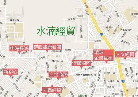 近水湳經貿商辦地圖