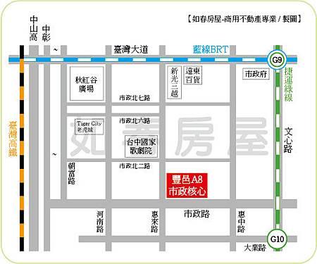 豐邑市政核心-地圖