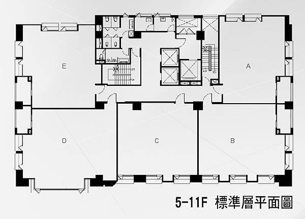 新業睿見5-11F標準層平面圖