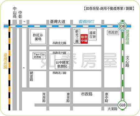 聯聚中雍週邊地圖
