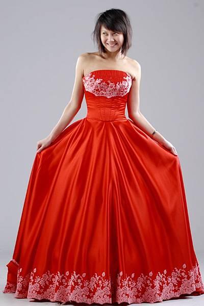 送客紅色禮服
