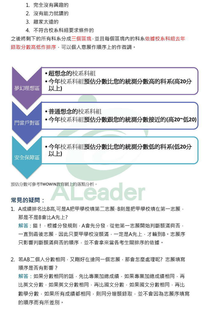 聯合登記分發志願填寫建議2