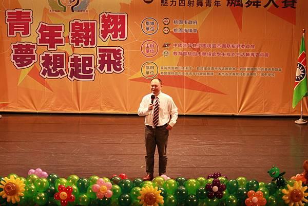 圖一:青年事務局陳家濬局長蒞臨現場為大家加油打氣