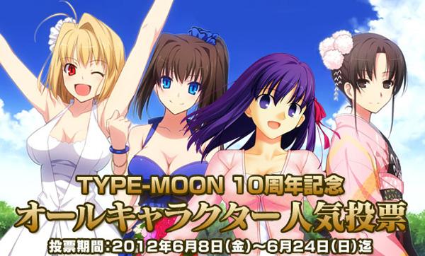 TYPE-MOON10周年記念 オールキャラクター人気投票