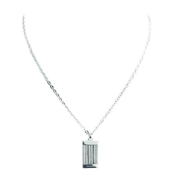 圖九 CHEVRON EXTENSION銀色項鍊,建議售價NT$7,500
