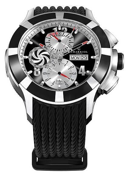 圖一 CHARRIOL GRAN CELTICA™ 自動計時腕錶,建議售價NT$132,900