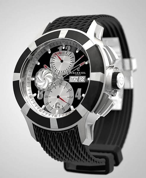 圖二 CHARRIOL GRAN CELTICA™ 自動計時腕錶,建議售價NT$132,900