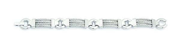 圖八 CHEVRON EXTENSION 銀色寬板手環,建議售價NT$7,700