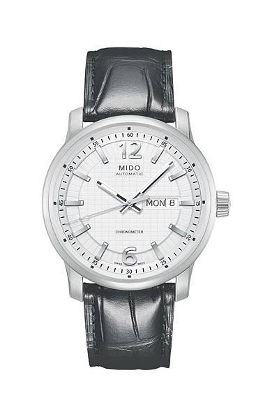 Great Wall長城系列天文台認證腕錶-白色面盤搭配黑色鱷魚皮壓紋(建議售價NT$41,800)