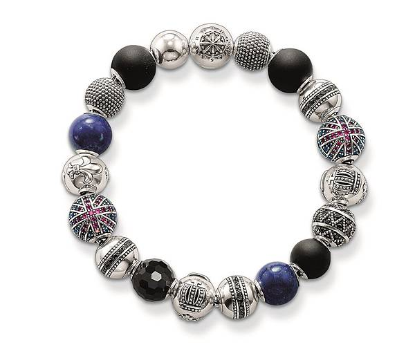 12.THOMAS SABO Rebel at Heart Karma Beads串珠系列 英倫搖滾串珠手環