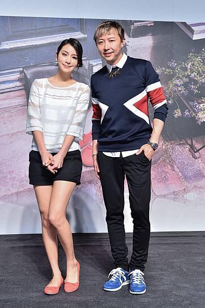 知名節目主持人莎莎X造型師 劉大強出席ecco 2014春夏新品發表會