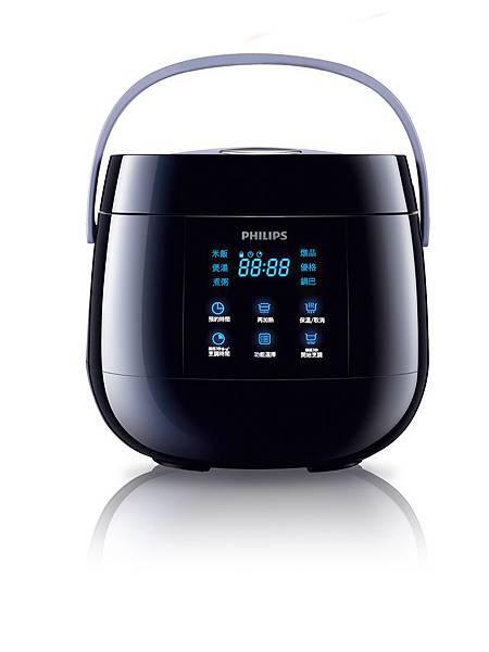 飛利浦微電鍋(HD3060)有獨家時尚黑外型,首創觸控感應式介面。建議售價4,290元。(圖片:飛利浦提供)