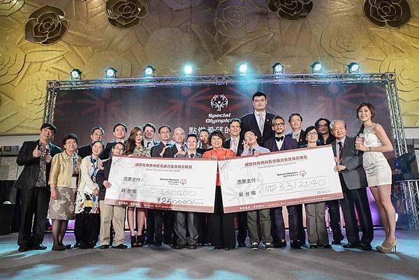 國際特殊奧林匹克慈善募款晚會募得金額所得將用於支持國際特奧會以及中華台北特奧會的特奧運動員參與 2015 年美國洛杉磯特奧世界夏季運動會