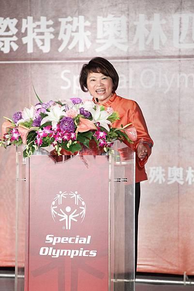 中華台北特奧會理事長黃敏惠女士表示,希望智障人士及他們的家庭成員能夠更好地走入人群,平等相待、互相包容,真正實現社會融合理想
