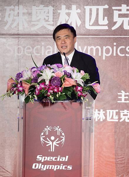 台北市長郝龍斌特別出席國際特殊奧林匹克慈善募款晚會以行動表示支持
