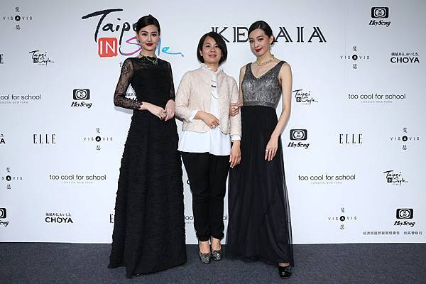 左起名模林葦茹、KERAIA設計總監蔡麗玉、名模王心恬