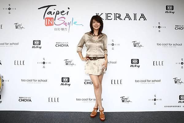 藝人林美貞出席KERAIA時裝秀