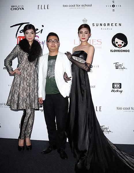 模特兒與聖格瑞拉設計師白帆