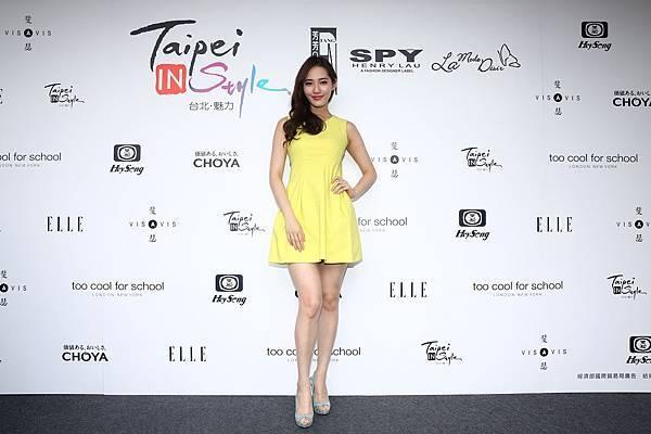 名模王予柔出席中港澳炙熱時尚時裝秀