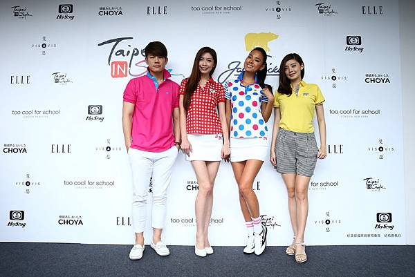 左起藝人陳志強、名模夏如芝、王麗雅和王尹平
