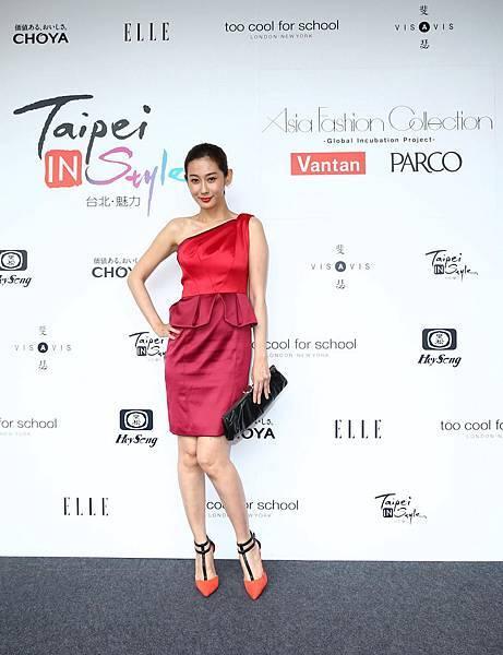 藝人林利霏出席Asia Fashoin Collection服裝秀