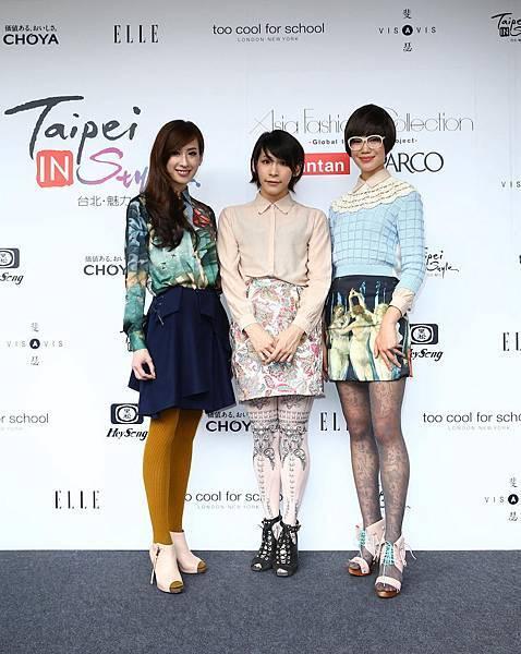 設計師Maaku Suzuki與模特兒們合照