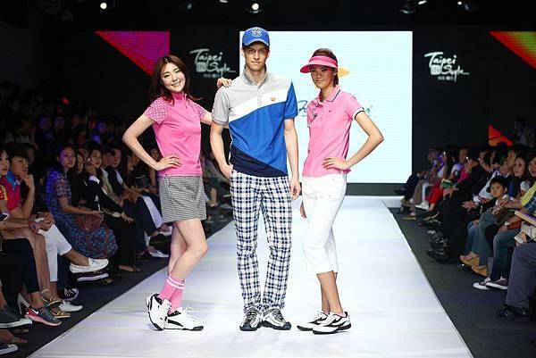 男模與女模們展演高爾夫球品牌Jack Nicklaus運動時尚風3