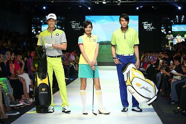 男模與女模們展演高爾夫球品牌Jack Nicklaus運動時尚風1