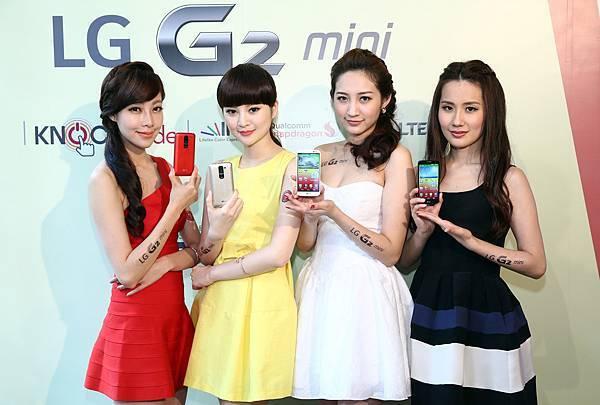 LG G2 mini 4G LTE共推出四款顏色 分別為狂放紅 璀璨金 率性白及俐落黑 各具不同風格