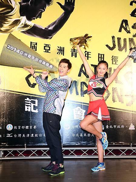 《第十六屆亞洲青年田徑錦標賽》代言人李國毅_加油大使張瑜秦