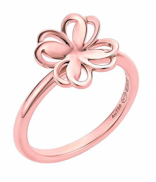 111358 萬寶龍摯愛系列幸運草玫瑰金戒指,NT$44,500