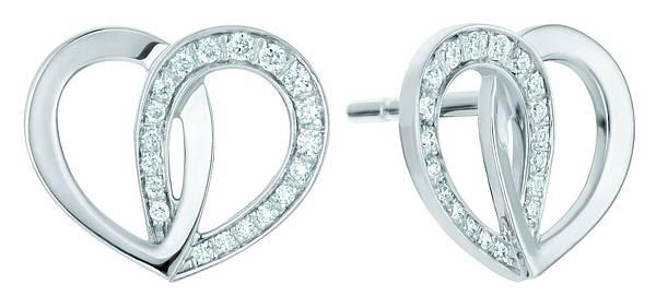 111374 萬寶龍摯愛系列白金鑲鑽耳環,NT$90,200