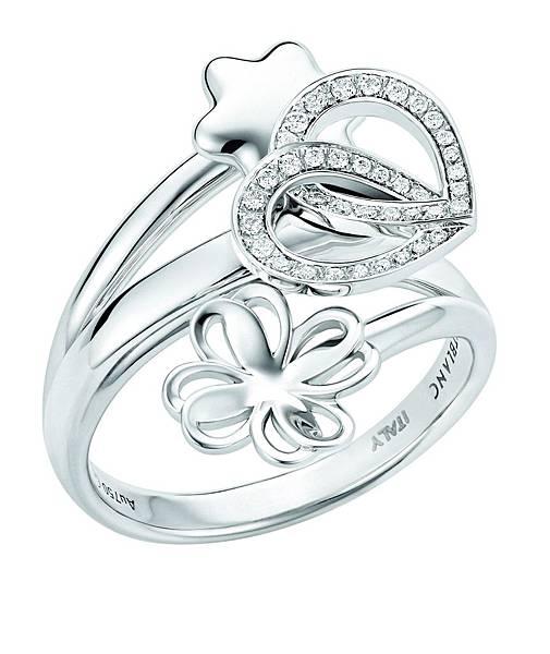 111360 萬寶龍摯愛系列流星雨白金鑲鑽戒指,NT$121,500