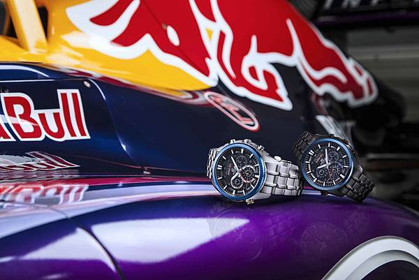 CASIO EDIFICE x Infiniti Red Bull Racing EFR-537聯名錶款形象圖