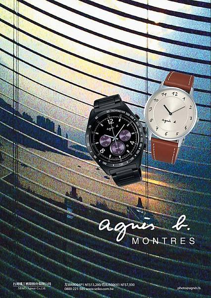 agnès b.2014年全新春夏錶款【左:BW8004P1 右:BJ5006X1】