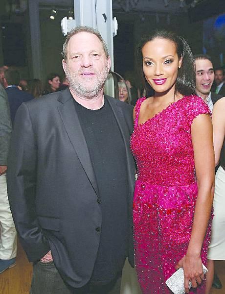 (左至右)好萊塢知名製片哈維‧溫斯坦(Harvey Weinstein)及超模瑟麗塔·伊班克斯(Selita Ebanks)
