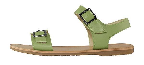 TRAVEL FOX 繫踝皮繩羅馬涼鞋-粗鞋繩(綠)_原價$2,600元_新品優惠價$1,500元