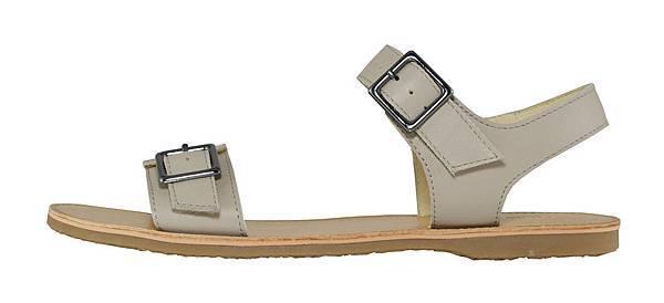 TRAVEL FOX 繫踝皮繩羅馬涼鞋-粗鞋繩(淺灰)_原價$2,600元_新品優惠價$1,500元