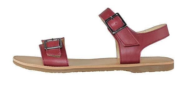 TRAVEL FOX 繫踝皮繩羅馬涼鞋-粗鞋繩(紅)_原價$2,600元_新品優惠價$1,500元