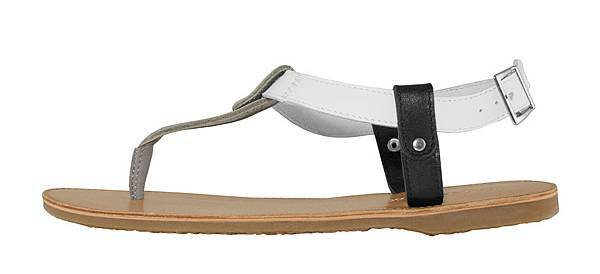 TRAVEL FOX 繫踝皮繩羅馬涼鞋-細鞋繩(灰.黑)_原價$2,600元_新品優惠價$1,500元